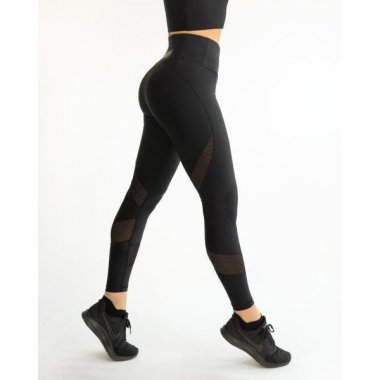 MESH black swirl leggings