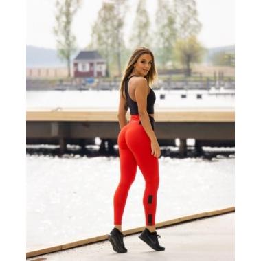 POP Ilrosso Red Scrunch leggings