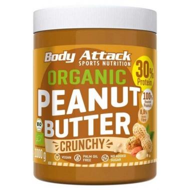 Body Attack Organic Peanut Butter CRUNCHY 1kg