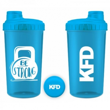 KFD shaker 700ml light blue- Be Strong