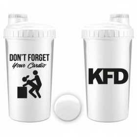 KFD shaker 700ml WHITE- Dont Forget your Cardio