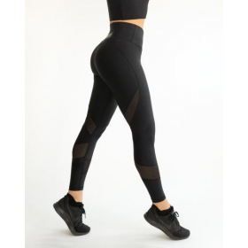 MESH black swirl leggings