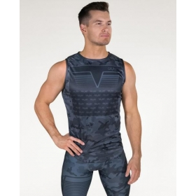 GAVELO Sniper Blue Sleeveless Tee