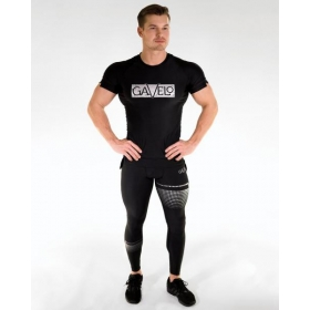 GAVELO Titan Black Compression Pants