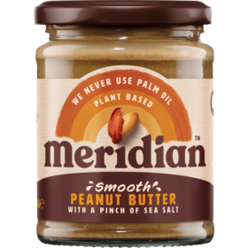 Meridian Foods peanut butter 280g- SMOOTH with SALT