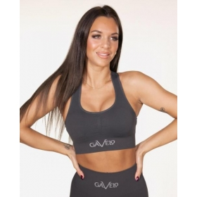 GAVELO Seamless BOOSTER- Gun Metal Sports Bra