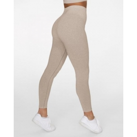 GAVELO Seamless RIBBED Sand Melange Leggings