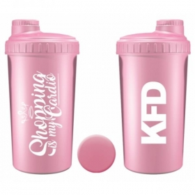 KFD shaker 700ml light pink, Shopping is my cardio