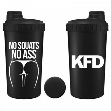 KFD shaker 700ml BLACK- No Squats No Ass