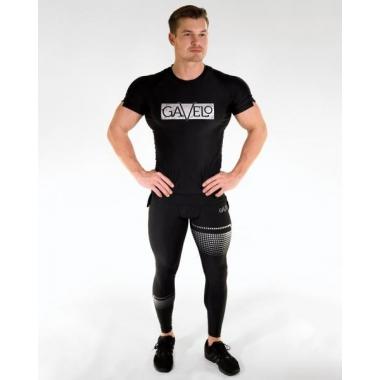 GAVELO Titan Black Compression Pants