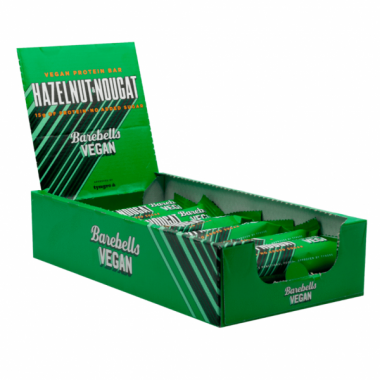 BOX Barebells VEGAN protein bars 12pcs- HAZELNUT&NOUGAT