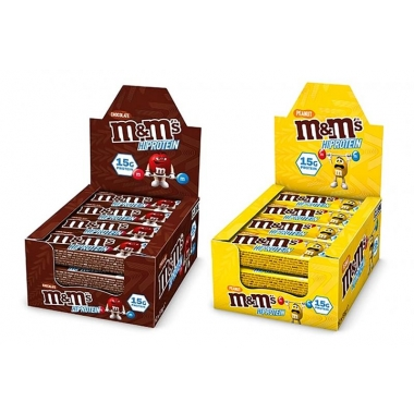 10x M&M's Protein Bar Chocolate and Peanut 10pcs