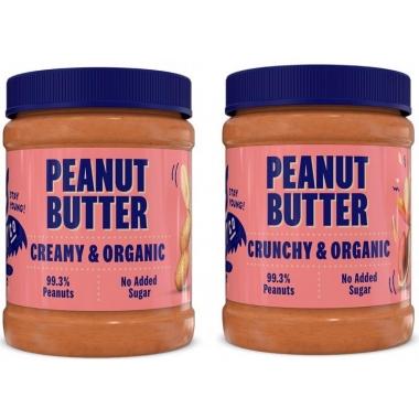 2x HealthyCo Peanut Butters CRUNCHY & CREAMY 2x350g