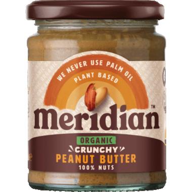 Meridian Foods orgaaniline maapähklivõi 280g- CRUNCHY