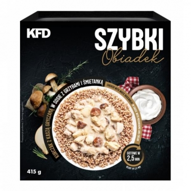 KFD Fast lunch - Chicken with white buckwheat in sauce with mushrooms and cream 415g