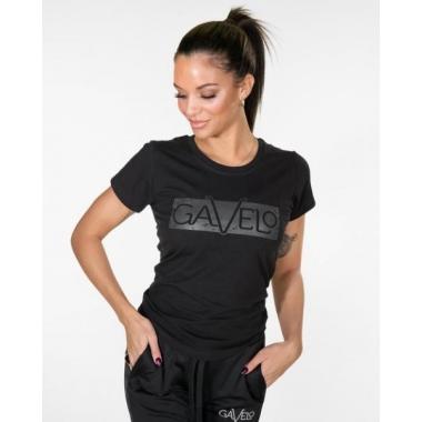 GAVELO Black Grey Logo Tee