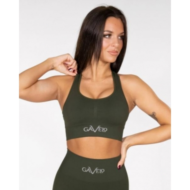 GAVELO Seamless BOOSTER- Forest Green Sports Bra