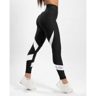 MESH Black & White Swirl leggings