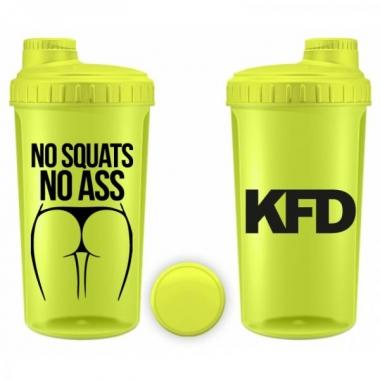 KFD shaker 700ml YELLOW- No Squats No Ass