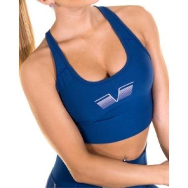 Gavelo PLAIN Blue Suede sports bra