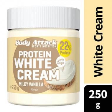Body Attack Protein WHITE CREAM Milky Vanilla 250g