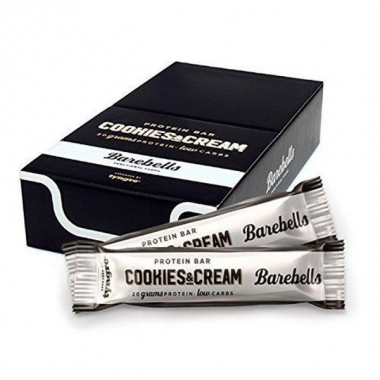 Box of BAREBELLS Cookies&Cream protein bar 12x55g