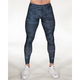 GAVELO Sniper Camo Blue Compression Pants
