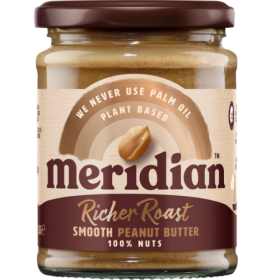 Meridian Foods RICHER ROAST smooth peanut butter 280g