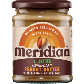 Meridian Foods organic peanut butter 280g- SMOOTH with SALT