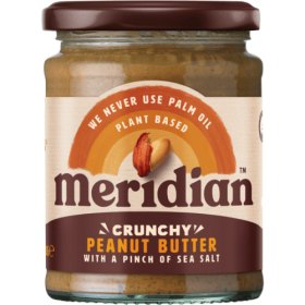 Meridian Foods peanut butter 280g- CRUNCHY with SALT