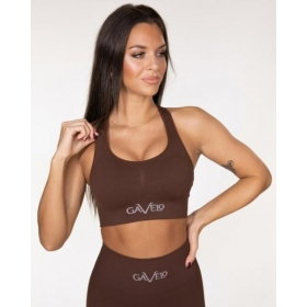 GAVELO Seamless BOOSTER- Chicory Coffee Sports Bra