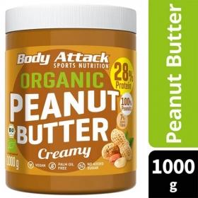Body Attack orgaaniline maapähklivõi CREAMY 1kg