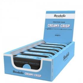 Box of BAREBELLS Creamy Crisp proteiinipalkki 12x55g