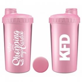 KFD shaker 700ml light pink, Shopping is my cardio