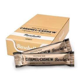 Box of BAREBELLS Caramel-Cashew proteiinipalkki 12x55g