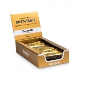 Box of BAREBELLS Salty Peanut proteiinipalkki 12x55g